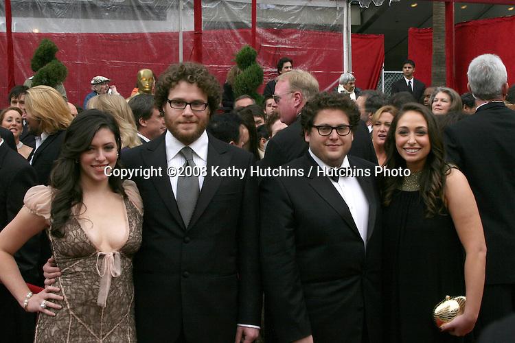 Seth Rogan & Jonah Hill, and dates.80th Academy Awards ( Oscars).Kodak Theater.Los Angeles, CA.February 24, 2008.©2008 Kathy Hutchins / Hutchins Photo.