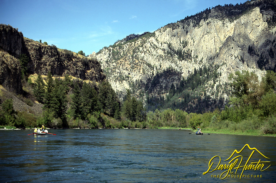 Fly-fishing the South Fork of the Snake River in Swan Valley Idaho. The soutfork is one of the best wild trout fisheries in the nation.