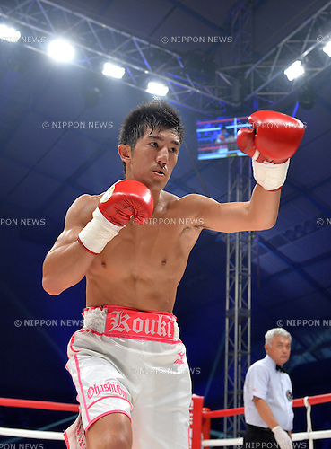 Koki Inoue (JPN),<br /> SEPTEMBER 4, 2016 - Boxing :<br /> Koki Inoue of Japan in action during the 8R 65.0kg weight bout at Sky Arena Zama in Kanagawa, Japan. (Photo by Mikio Nakai/AFLO)
