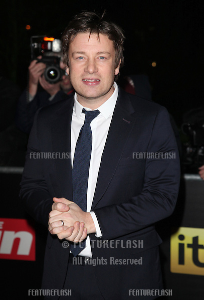 Jamie Oliver arriving for The Sun Military Awards, at The Imperial War Museum, London. 06/12/2012 Picture by: Alexandra Glen / Featureflash