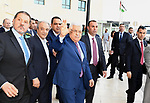 Palestinian President Mahmoud Abbas leaves Istishari Arab Hospital after undergoing minor ear surgery, in the West Bank city of Ramallah on May 15, 2018. Photo by Thaer Ganaim