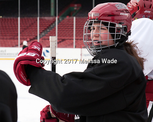 Natasha Rachlin (Harvard - 7) - The Harvard University Crimson practiced at Fenway on Monday, January 9, 2017, in Boston, Massachusetts.