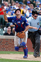 August 9, 2009:  Catcher Chris Robinson of the Iowa Cubs during a game at Wrigley Field in Chicago, IL.  Iowa is the Pacific Coast League Triple-A affiliate of the Chicago Cubs.  Photo By Mike Janes/Four Seam Images