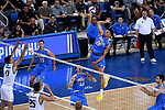 LOS ANGELES - MAY 5:  Daenan Gyimah #16 of the UCLA Bruins goes up for the spike against the Long Beach State 49ers during the Division 1 Men's Volleyball Championship on May 5, 2018 at Pauley Pavilion in Los Angeles, California. The Long Beach State 49ers defeated the UCLA Bruins 3-2. (Photo by John W. McDonough/NCAA Photos via Getty Images)
