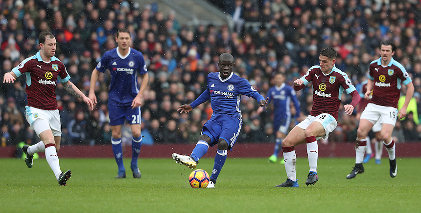 Chelsea's Ngolo Kante<br /> <br /> Photographer Rachel Holborn/CameraSport<br /> <br /> The Premier League - Burnley v Chelsea - Sunday February 12th 2017 - Turf Moor - Burnley<br /> <br /> World Copyright &copy; 2017 CameraSport. All rights reserved. 43 Linden Ave. Countesthorpe. Leicester. England. LE8 5PG - Tel: +44 (0) 116 277 4147 - admin@camerasport.com - www.camerasport.com