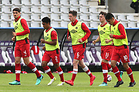 Matthew Roberts (No 6) of Swansea and Canada U23's warms up ahead of kick-off during Japan Under-21 vs Canada Under-21, Tournoi Maurice Revello Football at Stade Parsemain on 3rd June 2018
