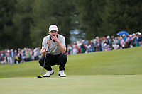 Kalle Samooja (FIN) lines up his putt on the 18th hole during final round at the Omega European Masters, Golf Club Crans-sur-Sierre, Crans-Montana, Valais, Switzerland. 01/09/19.<br /> Picture Stefano DiMaria / Golffile.ie<br /> <br /> All photo usage must carry mandatory copyright credit (© Golffile | Stefano DiMaria)