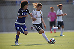 (L to R) Eriko Arakawa (ELFEN) , Ayu Nakada (INAC),<br /> JUNE 15, 2014 - Football / Soccer : 2014 Nadeshiko League, between AS ELFEN SAITAMA 1-3 INAC KOBE LEONESSA at NACK 5 Stadium Omiya, Saitama, Japan. (Photo by Jun Tsukida/AFLO SPORT)