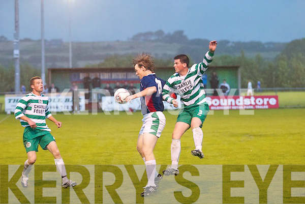 Action shots between Killarney Celtic v Lisselton in the Golf Hotel League Cup at Mounthawk, Tralee, on Friday..