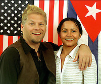 With my fiance Leonida Alvarez Espinosa in Houston, Texas in 2003.