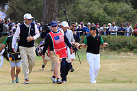 Louis Oosthuizen (International) on the 2nd tee during the Second Round - Foursomes of the Presidents Cup 2019, Royal Melbourne Golf Club, Melbourne, Victoria, Australia. 13/12/2019.<br /> Picture Thos Caffrey / Golffile.ie<br /> <br /> All photo usage must carry mandatory copyright credit (© Golffile | Thos Caffrey)