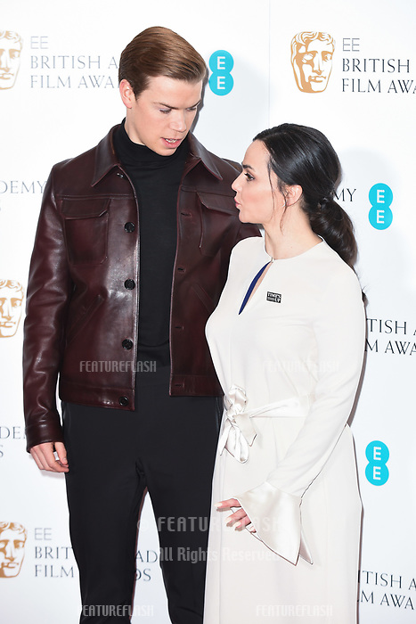 LONDON, UK. January 09, 2019: Will Poulter & Hayley Squires at the announcement of the nominations for the BAFTA Film Awards 2019 London.<br /> Picture: Steve Vas/Featureflash