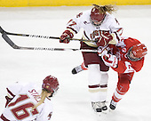 Danielle Welch (BC - 17), Marie-Philip Poulin (BU - 29) - The visiting Boston University Terriers defeated the Boston College Eagles 1-0 on Sunday, November 21, 2010, at Conte Forum in Chestnut Hill, Massachusetts.
