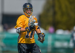 16 April 2016: University of Maryland, Baltimore County Retriever Midfielder Mason Witzler, a Sophomore from Reisterstown, MD, in action against the University of Vermont Catamounts at Virtue Field in Burlington, Vermont. The Retrievers fell to the Catamounts 14-10 in NCAA Division I play. Mandatory Credit: Ed Wolfstein Photo *** RAW (NEF) Image File Available ***