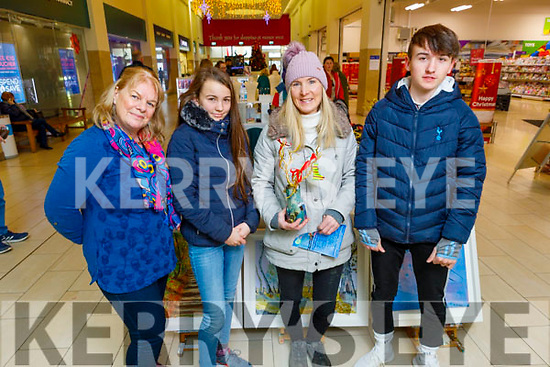 Ann Hennessy from Tubrid Studios displaying her work to Jessie O'Donovan, Kerry and Jake O'Sullivan at the Manor West Shopping Centre's Annual Christmas Food & Craft Fair on Saturday.