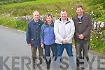 Flooding in Rathmore is increasingly becoming a problem for local residents who are left cut-off by flood waters regularly. .L-R John McAuliffe, Peter McCarthy, Padraig McCarthy and Connie Doherty.