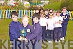 FEIS WINNERS: Pupils from Scoil Mhic Easmainn were celebrating their achievements at the Feis Chiarrai this week. From front l-r were: Peter Claro, Emily Nic Uileafold and Joseph Claro. Back l-r were: Robin Ni Chaoimh, Roisin O'Suilleabhain, Nathan O'hEidhin, Cait Ni Dhugan, Tom Breathnach, Dearbhla Ni Choirc and Karena Ni Shiochain.