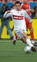 16 May 09: Chicago Fire midfielder Marco Pappa #16 in action at BMO Field in a game between the Chicago Fire and Toronto FC..Chicago Fire won 2-0..