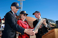Saturday, November 8, 2008, Mt. Soledad Veterans Memorial La Jolla California.  Brigadier General James Maitland Stewart, United States Air Force, a highly decorated WWII pilot was honored with a special plaque during at a dedication ceremony attended by his daughter and other family members.  Stewart, who would have been 100 years old this year was better known to most of the world as a highly acclaimed Hollywood actor.