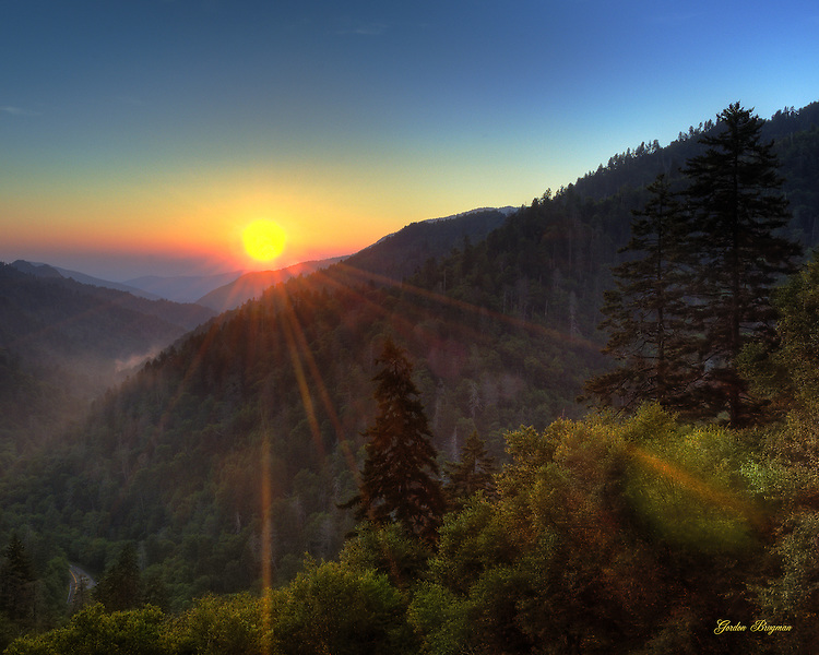 Sunset at Morton Overlook (HDR), GSMNP