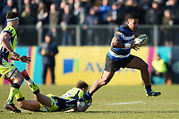 Cooper Vuna of Bath Rugby takes on the Sale Sharks defence. Aviva Premiership match, between Bath Rugby and Sale Sharks on February 24, 2018 at the Recreation Ground in Bath, England. Photo by: Patrick Khachfe / Onside Images