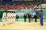 (L to R) Yuki Hashimoto, Nae Udaka, Kana Abe, Haruka Tachimoto, Mai Tateyama (JPN), .April 21, 2013 - Judo : .Asian Judo Championships 2013, Women's Team Competition Final .at Bangkok Youth Centre, Bangkok, Thailand. .(Photo by Daiju Kitamura/AFLO SPORT) [1045]