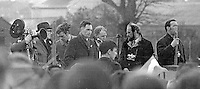 Thousands take part in the annual Easter Sunday Republican Parade seen entering Milltown Cemetery, Belfast, N Ireland. 5th April 1970. 197004050121c<br /> <br /> Copyright Image from Victor Patterson, 54 Dorchester Park, Belfast, UK, BT9 6RJ<br /> <br /> t1: +44 28 9066 1296<br /> t2: +44 28 9002 2446<br /> m: +44 7802 353836<br /> <br /> e1: victorpatterson@me.com<br /> e2: victorpatterson@gmail.com<br /> <br /> IMPORTANT: My Terms and Conditions of Business are at www.victorpatterson.com