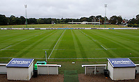 A view of the pitch prior to the Greene King IPA Championship match between London Scottish Football Club and London Welsh RFC at Richmond Athletic Ground, Richmond, United Kingdom on 10 September 2016. Photo by Carlton Myrie / PRiME Media Images.
