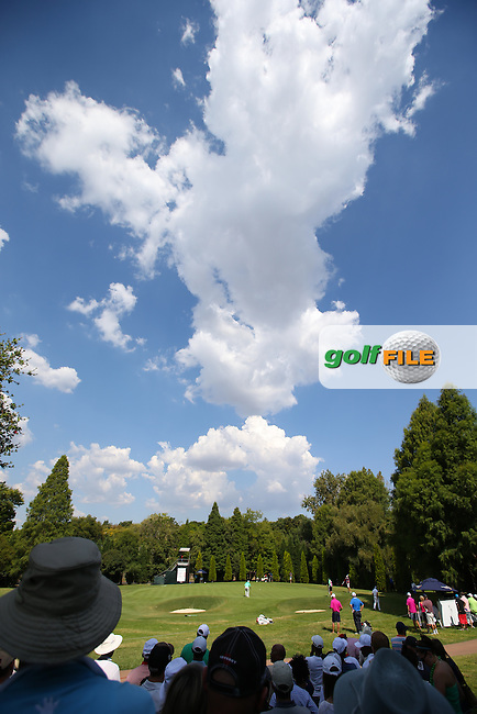 Crowd view of the 12th during the Final Round of the Tshwane Open 2015 at the Pretoria Country Club, Waterkloof, Pretoria, South Africa. Picture:  David Lloyd / www.golffile.ie. 15/03/2015