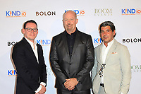 CLVER CITY - AUG 4: Ed Pedrick, Jim Cave, Anthony Weege at Kind Los Angeles: Coming Together for Children Alone at Bolon at Helms Design Center on August 4, 2018 in Culver City, CA