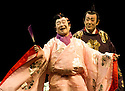 Twelfth Night after William Shakespeare,A Shochiku Grand Kabuki Production directed by Yukio Ninagawa.With  Nakamura Kanjaku V as Sir Andrew Aguecheek,Ichikawa Sadanji IV as Sir Toby Belch. Opens at The Barbican Theatre on 24/3/09 CREDIT Geraint Lewis