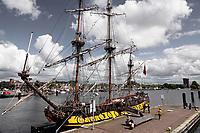 Nederland - Zaandam- 2020.  Het Russische schip de Shtandart. Het schip is een replica van het schip dat tsaar Peter de Grote in 1703 in Sint Petersburg liet bouwen na zijn bezoek aan Zaandam. Foto ANP / Hollandse Hoogte / Berlinda van Dam