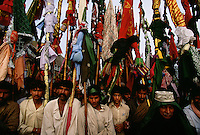 LaLa Walles carry colorful banners and flags when they come to a saint's tomb. These pilgrimages formed the basis of trade routes that developed in the early urban phase of the Indus Valley in 3,500 BC. Uniform development of cities along these routes is well documented and developed because these town to town group pilgrimages from made it safer to carry goods for trade.