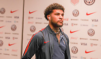 WASHINGTON D.C. - OCTOBER 11: DeAndre Yedlin #2 of the United States walks off the team bus prior to their Nations League game versus Cuba at Audi Field, on October 11, 2019 in Washington D.C.