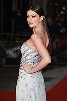 Millie Brady at the European premiere for &quot;Pride and Prejudice and Zombies&quot; at the Vue West End, Leicester Square.<br /> February 1, 2016  London, UK<br /> Picture: Steve Vas / Featureflash