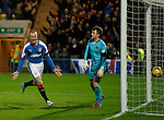Kenny Miller celebrates after heading past keeper Mark Brown