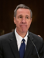 """Arne M. Sorenson, President and Chief Executive Officer, Marriott International, Inc. waits to testify before the United States Senate Committee on Homeland Security and Governmental Affairs Permanent Subcommittee on Investigations during a hearing on """"Examining Private Sector Data Breaches"""" on Capitol Hill in Washington, DC on Thursday, March 7, 2019.<br /> Credit: Ron Sachs / CNP/AdMedia"""