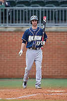 Billy Salem (17) of the Akron Zips at bat against the Charlotte 49ers at Hayes Stadium on February 22, 2015 in Charlotte, North Carolina.  The Zips defeated the 49ers 5-4.  (Brian Westerholt/Four Seam Images)