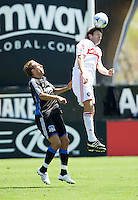 April 11, 2009:  Logan Pause of Fire and Darren Huckerby of Earthquakes in action at Buck Shaw Stadium in Santa Clara, California. San Jose Earthquakes and Chicago Fire tied, 3-3
