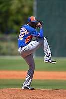 New York Mets pitcher Alberto Baldonado (22) during a minor league spring training game against the Miami Marlins on March 30, 2015 at the Roger Dean Complex in Jupiter, Florida.  (Mike Janes/Four Seam Images)