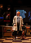 REASONS TO BE CHEERFUL by Sirett;<br /> Stephen Collins as Colin;<br /> Directed by Sealey;<br /> Associate director: Beeton;<br /> Writer: Sirett;<br /> Designer: Ashcroft;<br /> Assistant designer: Charlesworth;<br /> Lighting designer: Scott;<br /> Sound designer: Gibson;<br /> Musical director: Hickman;<br /> Choreographer: Smith;<br /> Video designer: Haig;<br /> Projection design: Mclean; <br /> Music supervisor and Arrangements: Hyman;<br /> Voice coach: Holt; Casting: Hughes CDG<br /> BSL consultant: Jackson<br /> Audio description consultant: Oshodi<br /> Graeae Theatre Company;<br /> at The Belgrade Theatre, Coventry, UK;<br /> 8 September 2017;<br /> Credit: Patrick Baldwin;