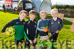 Enjoying the afternoon at Fenit Samphires FC fun day on Saturday<br /> L to r: Thomas Brown, Jack Nolan, Aaron Keating and Eoin Flaherty.