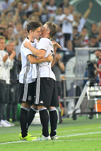 31.08.2016 Moenchengladbach, Germany. International football freindly. Germany versus Finland.  Bastian Schweinsteiger (Germany)  leaves the field of play