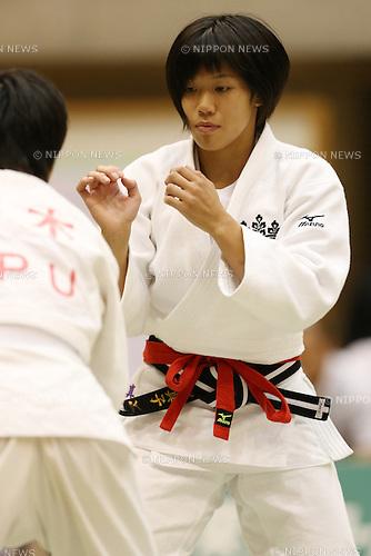 Mako Uchio,<br /> September 13, 2014 - Judo : <br /> All Japan Juior Judo Championships <br /> Women's -52kg Final<br /> at Saitama Kenritsu Budokan, Saitama, Japan. <br /> (Photo by Shingo Ito/AFLO SPORT) [1195]
