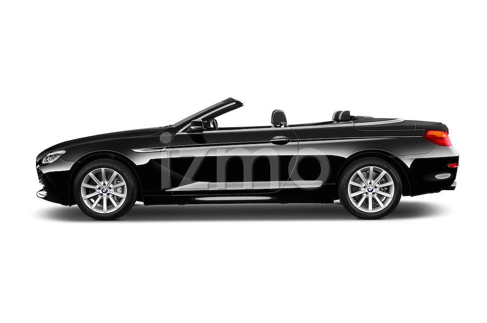 Car Driver side profile view of a 2016 BMW 6 Series 640i Black Accent Pkg 2 Door Convertible Side View