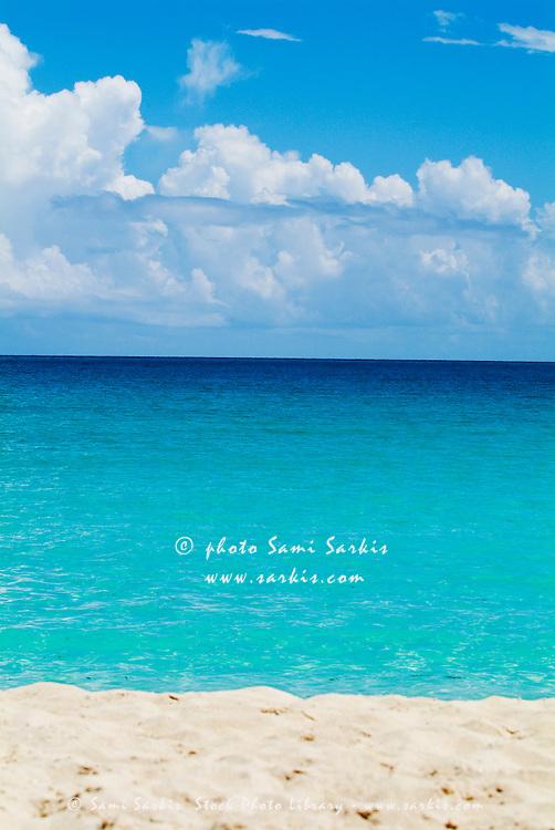 Beautiful transparent water and white sand beach, Cayo Santa-Maria, Cuba.