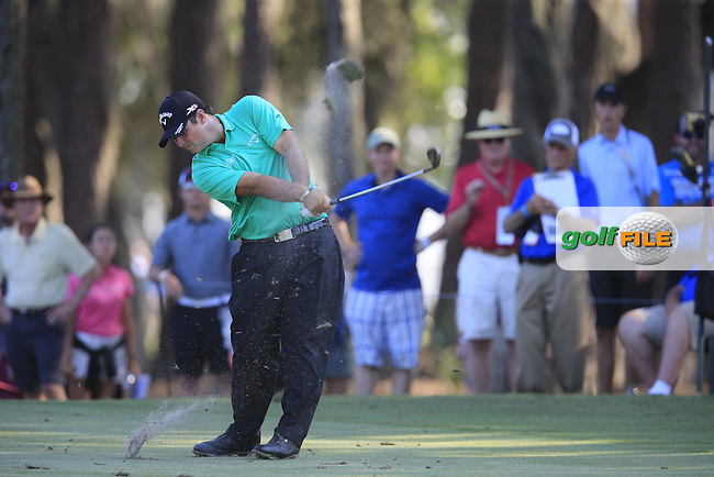 Patrick Reed (USA) during round 1of the Players, TPC Sawgrass, Championship Way, Ponte Vedra Beach, FL 32082, USA. 12/05/2016.<br /> Picture: Golffile   Fran Caffrey<br /> <br /> <br /> All photo usage must carry mandatory copyright credit (&copy; Golffile   Fran Caffrey)