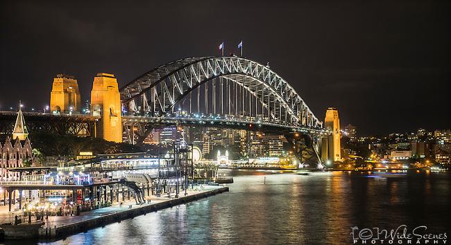 Sydney Harbour Bridge at night, Sydney, NSW, Australia