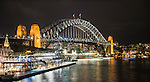 Sydney Harbour Bridge at night, Sydney, NSW, Australia