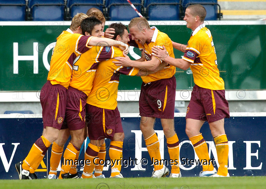 26/08/2006        Copyright Pic: James Stewart.File Name : sct_jspa07_fakirk_v_motherwell.SCOTT MCDONALD CELEBRATES SCORING MOTHERWELL'S WINNER....Payments to :.James Stewart Photo Agency 19 Carronlea Drive, Falkirk. FK2 8DN      Vat Reg No. 607 6932 25.Office     : +44 (0)1324 570906     .Mobile   : +44 (0)7721 416997.Fax         : +44 (0)1324 570906.E-mail  :  jim@jspa.co.uk.If you require further information then contact Jim Stewart on any of the numbers above.........